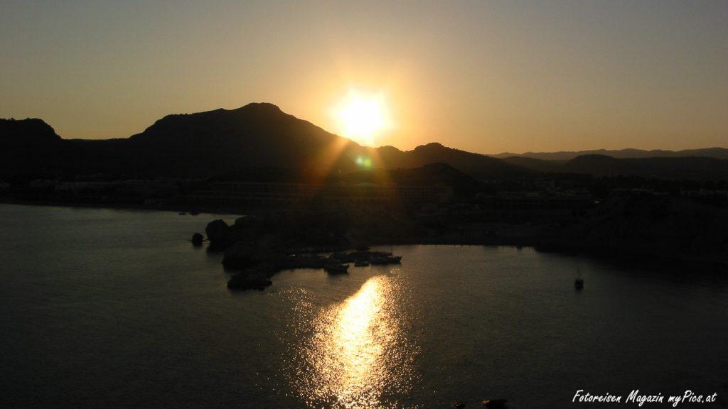 Rhodos Sonnenuntergang