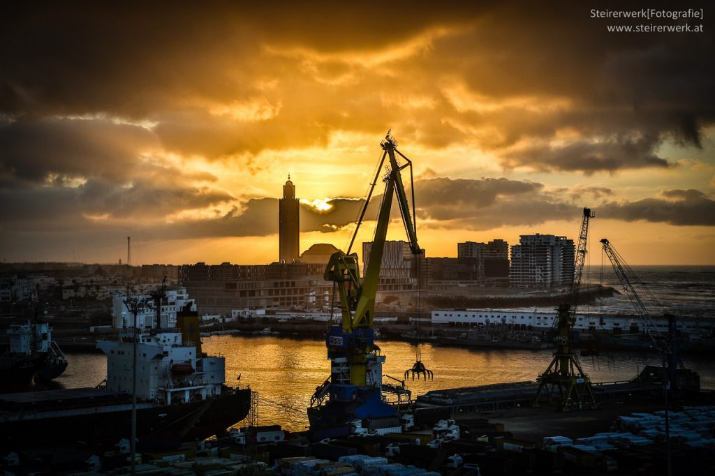 Sonnenuntergang HDR Casablanca