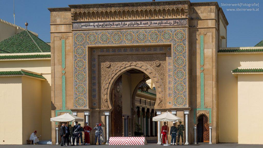 Palastwache Königspalast Marokko