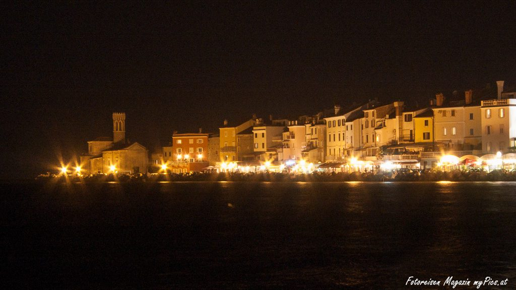 Piran Promenade Beleuchtung