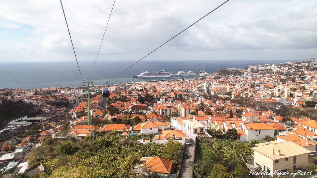 Funchal Gondelfahrt Aussicht