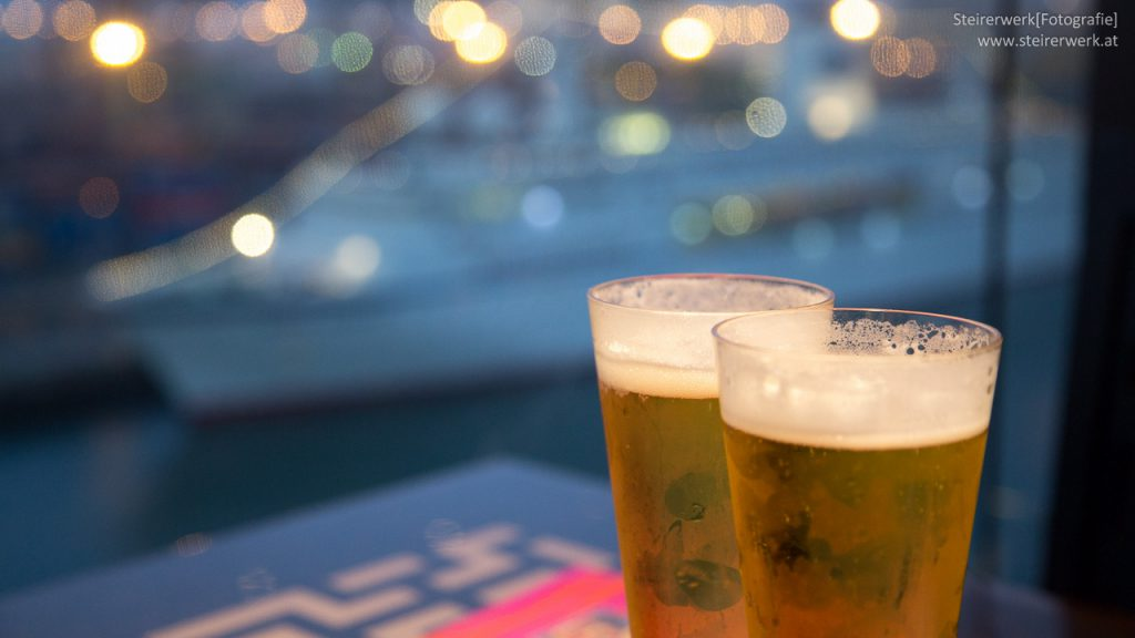 Bier auf einer Kreuzfahrt
