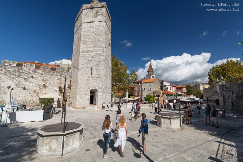 Fünf Brunnen Platz Zadar