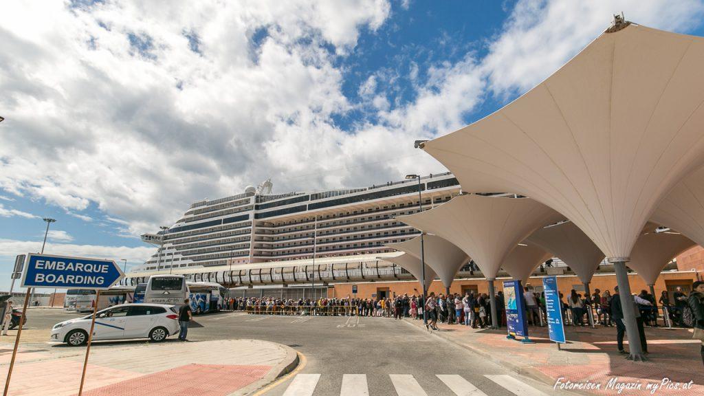 Kreuzfahrtschiff Hafen Malaga