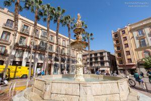 Springbrunnen Platz der Verfassung Malaga