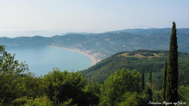 Große Bucht auf Korfu