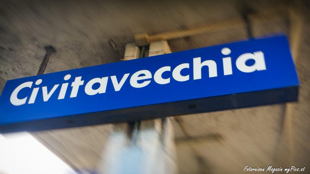 Civitavecchia Bahnhof in Italien