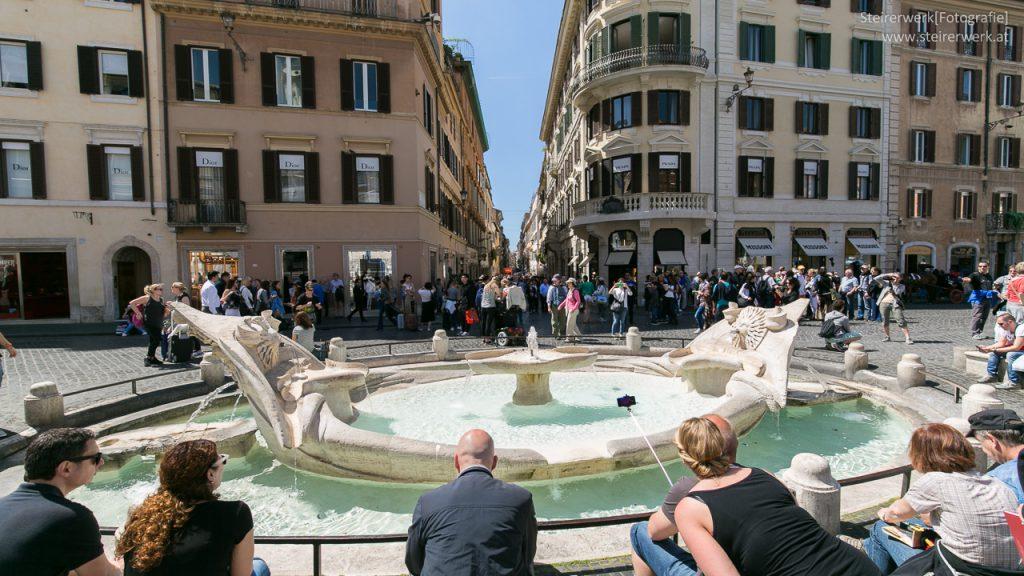 Sehenswürdigkeit Fontana della Barcaccia in Rom