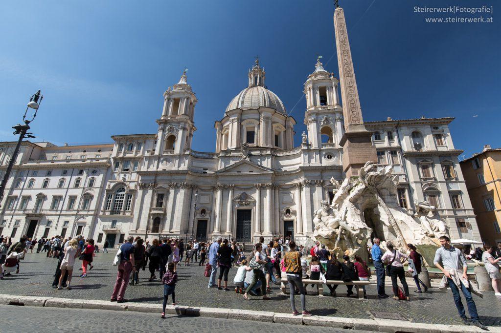 Vierströmebrunnen am Navona Platz in Rom