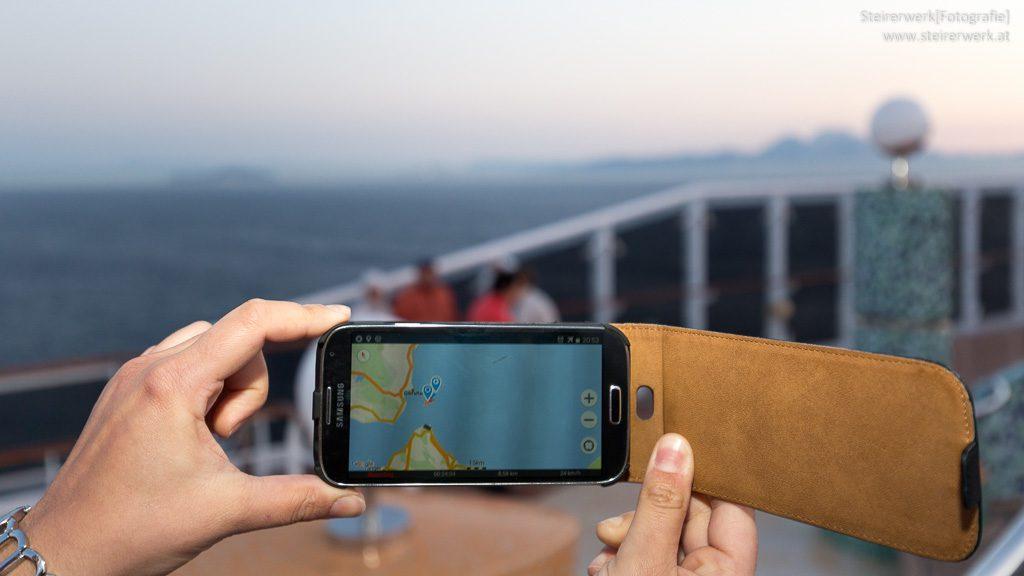 Smartphone Kreuzfahrtschiff