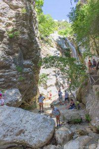 Ausflugsziel Dimosari Wasserfall