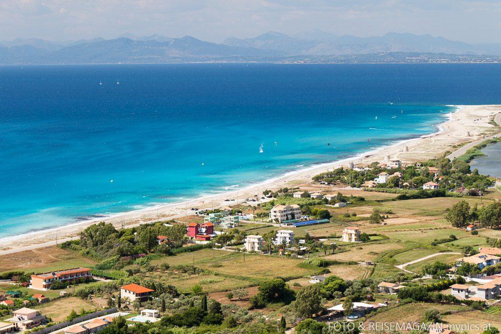 Lagune an der Küste von Lefkada