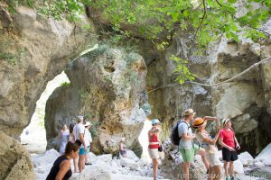 Wanderung zum Wasserfall Dimosari