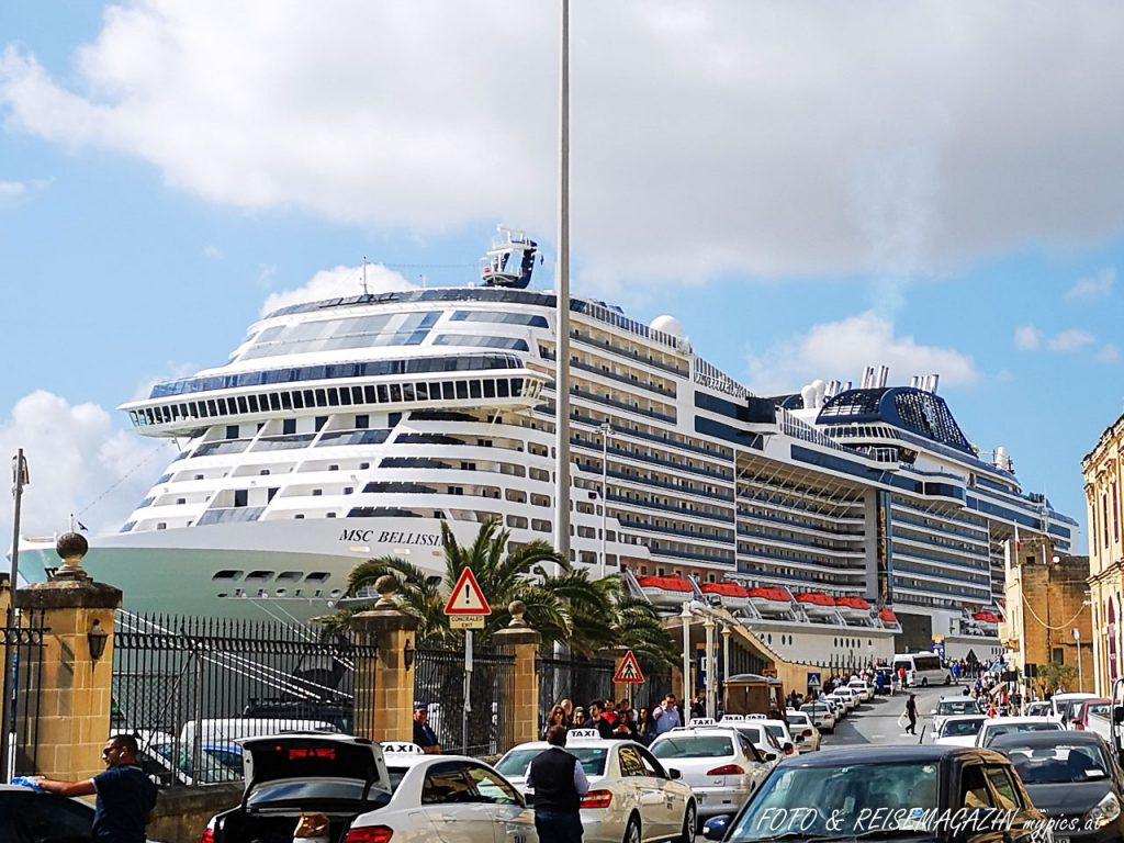 MSC Bellissima Hafen La Valletta Malta
