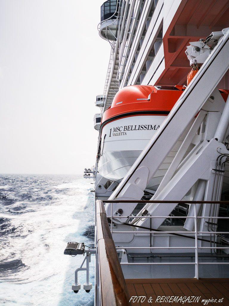Rettungsboot MSC Bellissima