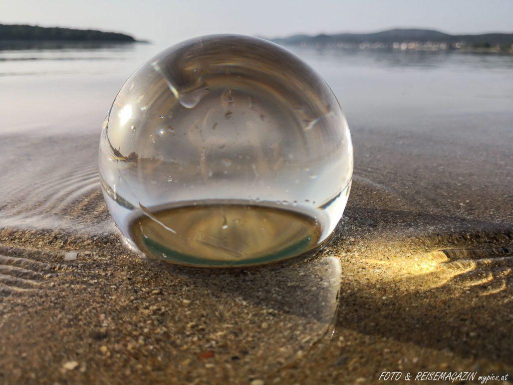 Glaskugel Brennglas