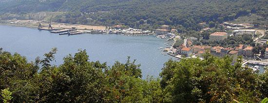 Blick auf Bakar bei Rijeka in Kroatien