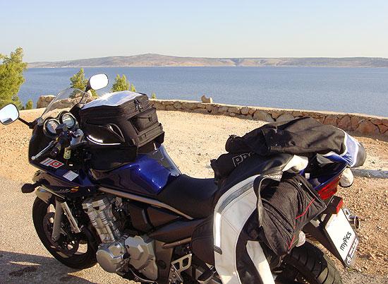 Beginn der Kroatien Motorradtour entlang der Küste
