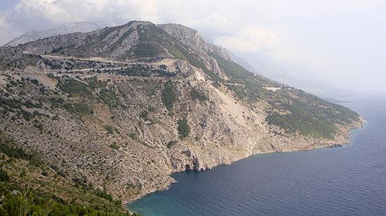 Kroatische Küstenstraße Richtung Makaskar