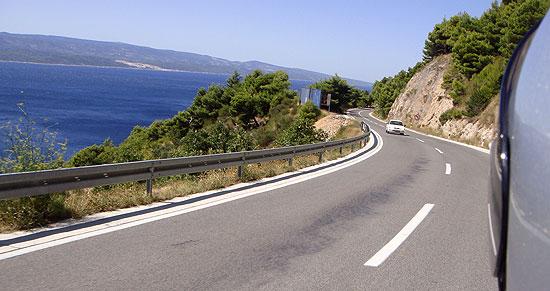 Kurven Kroatien Küstenstraße