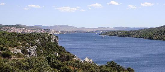 Blick auf Sibenik in Kroatien