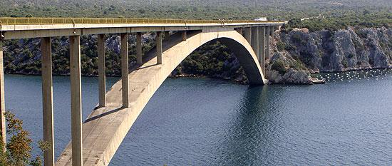 Brücke vor Sibenik