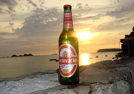 Kroatisches Bier am Abend