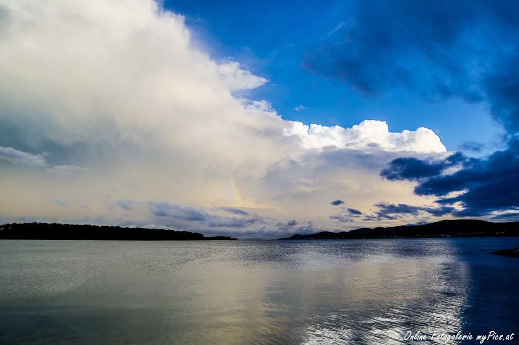 HDR Wetter Regenbogen
