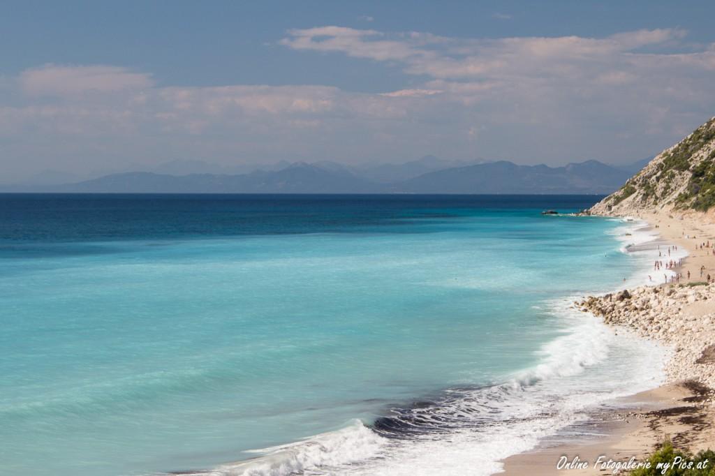 Urlaufbsfoto Lefkas Griechenland Strand