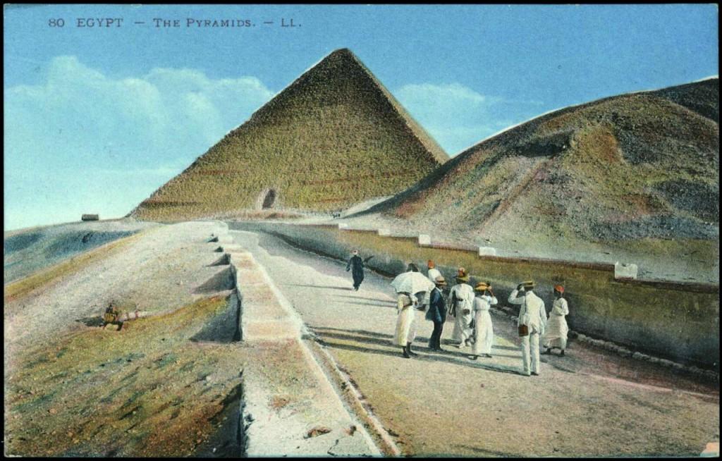 pyramiden alte ansichtskarte aegypten